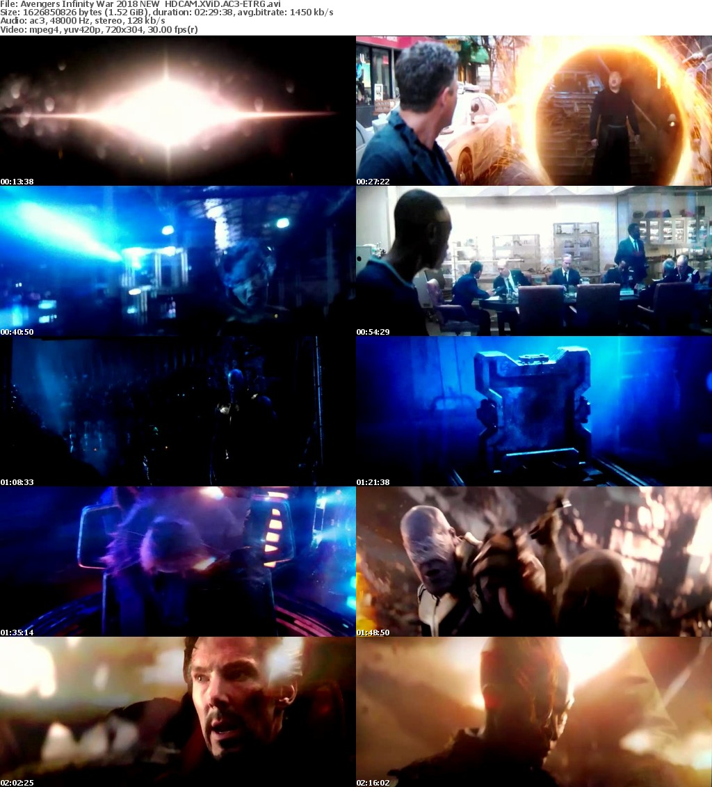 Avengers Infinity War (2018) NEW HDCAM XViD AC3-ETRG
