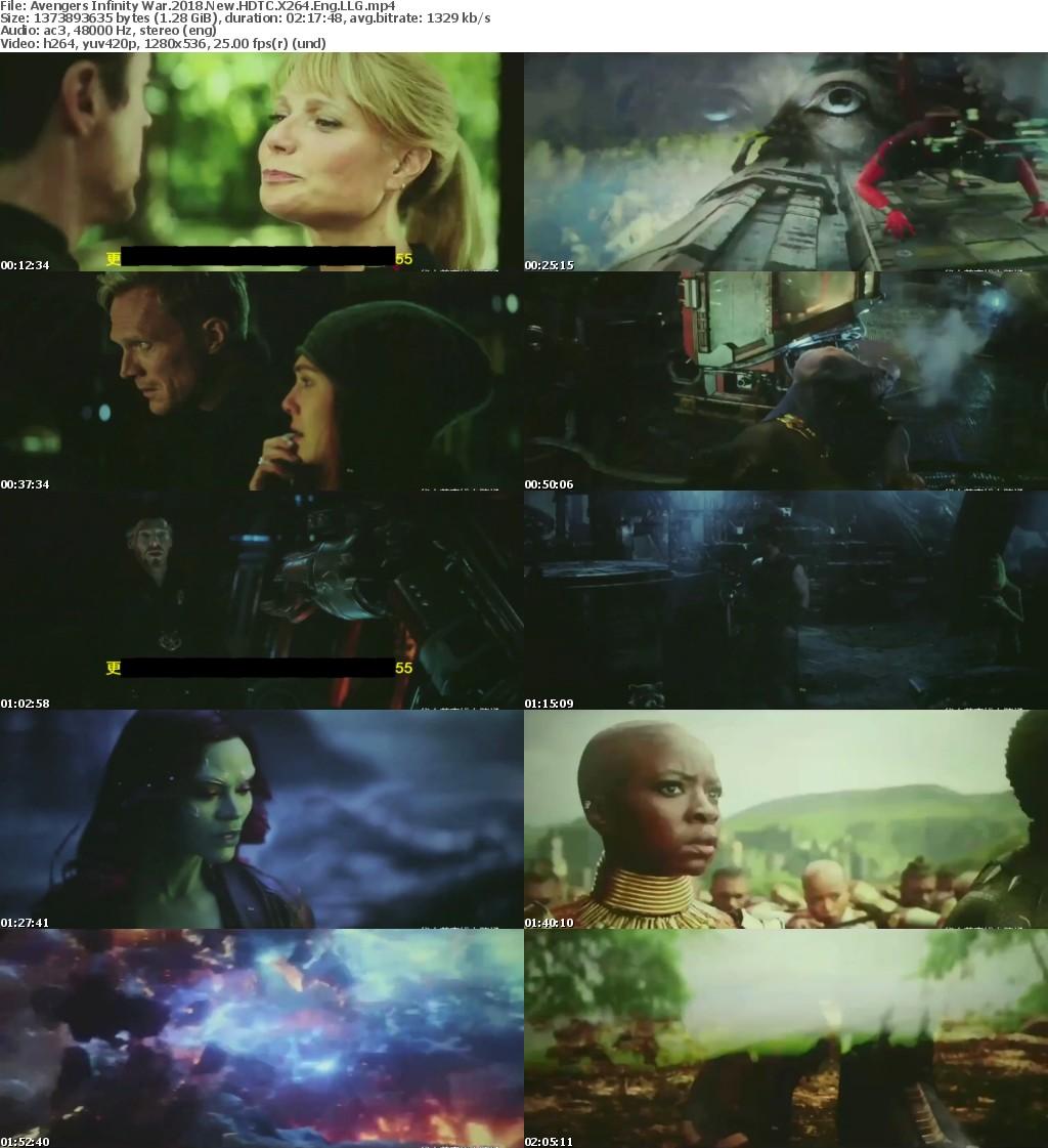 Avengers Infinity War (2018) New 720p HDTC X264 Eng LLG