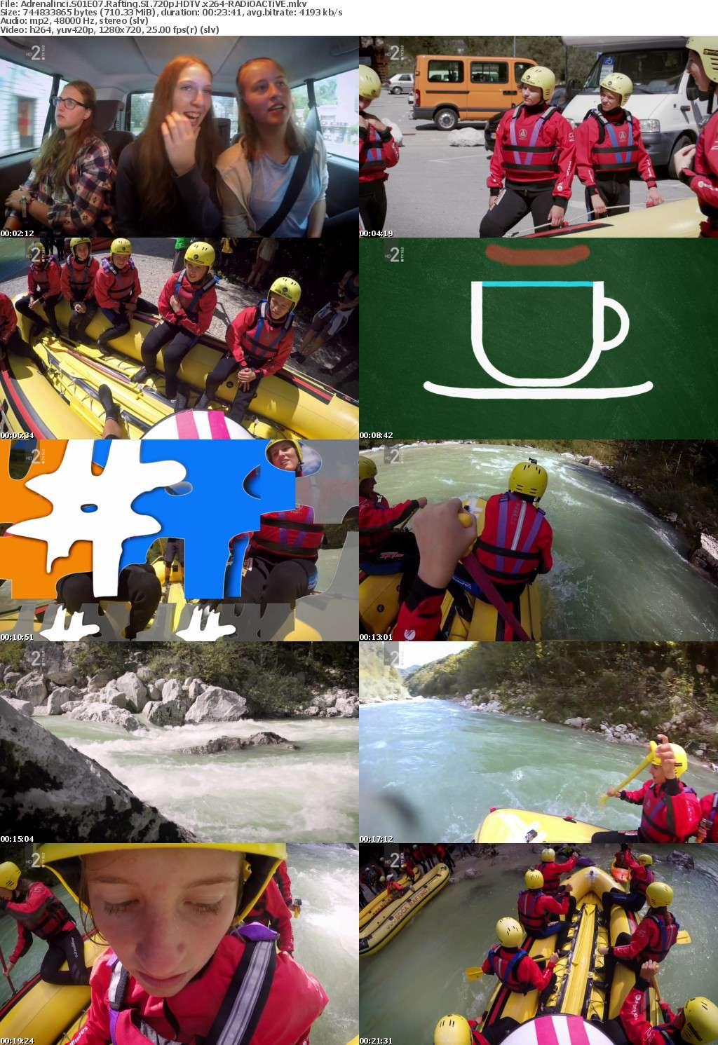Adrenalinci S01E07 Rafting SI 720p HDTV x264-RADiOACTiVE