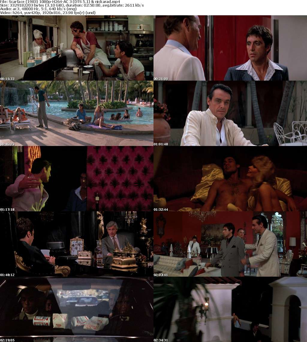 Scarface (1983) 1080p BluRay H264 AC3 Remastered-nickarad