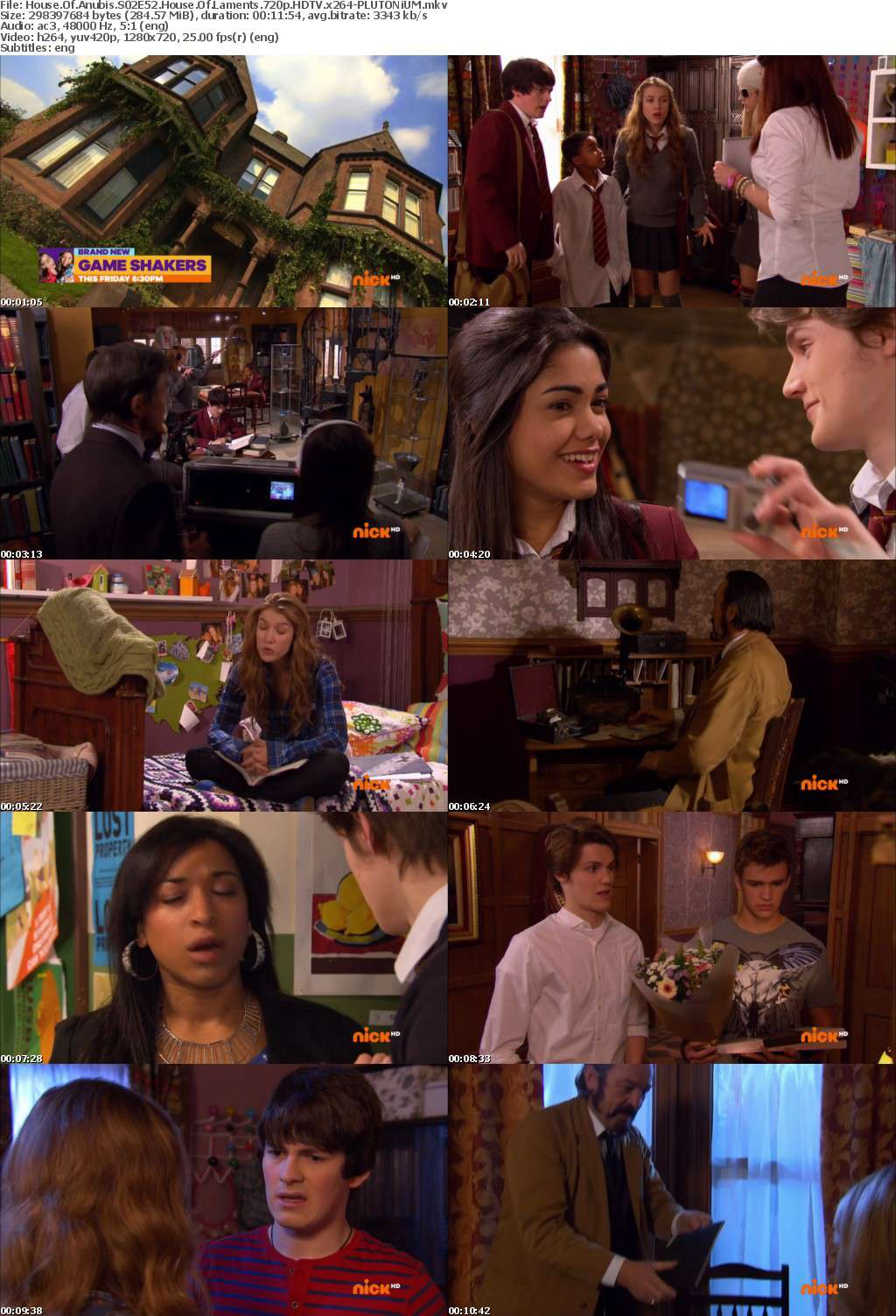 House Of Anubis S02E52 House Of Laments 720p HDTV x264-PLUTONiUM