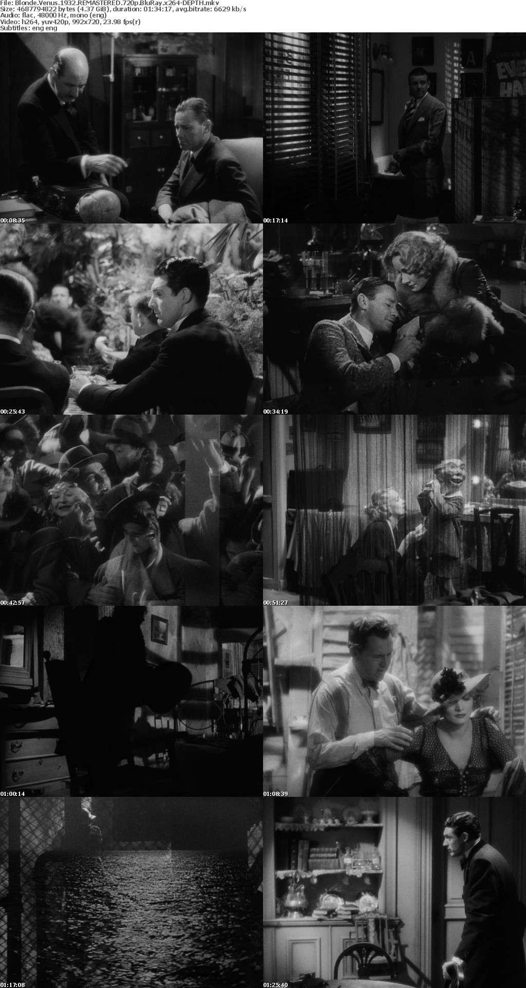 Blonde Venus 1932 REMASTERED 720p BluRay x264-DEPTH