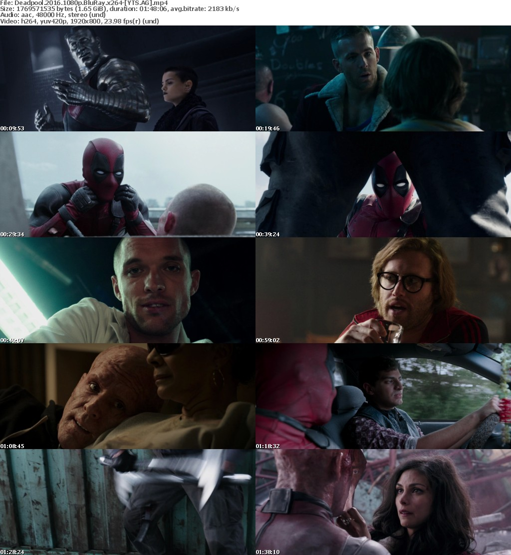 Deadpool (2016) [BluRay] [1080p] YIFY
