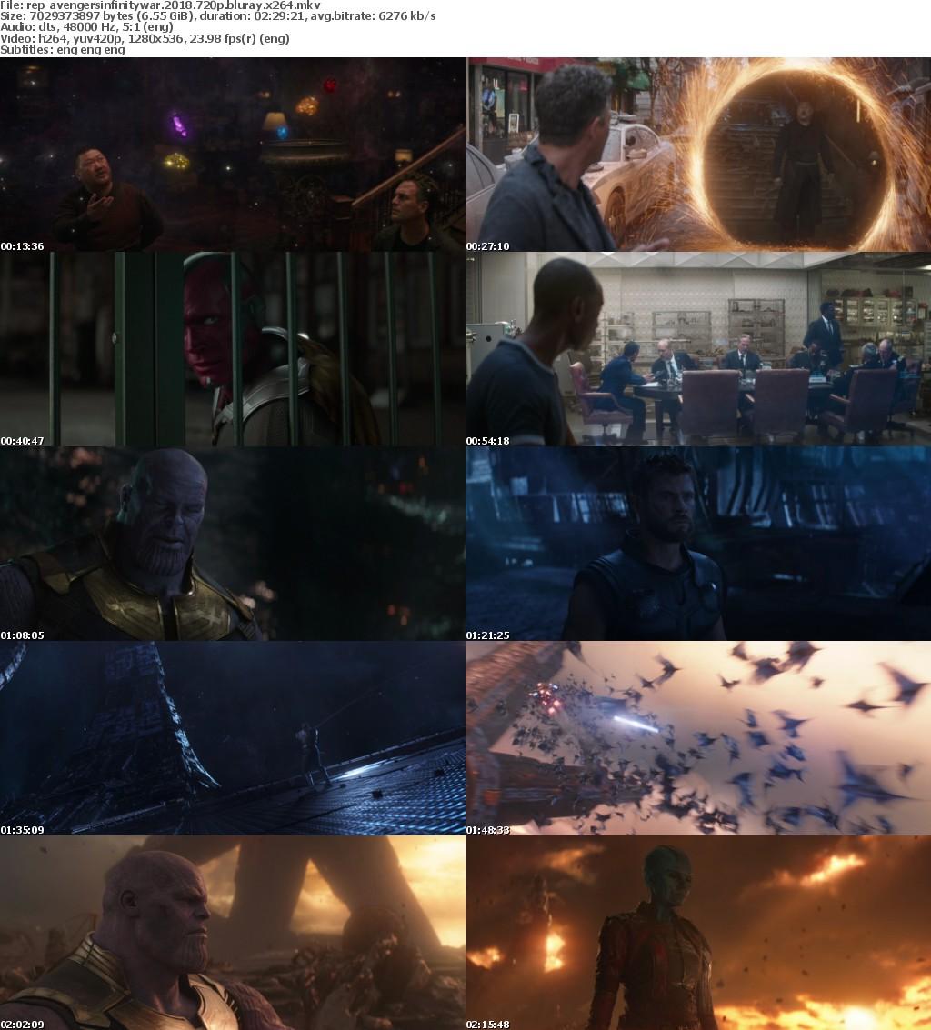 Avengers Infinity War (2018) PROPER 720p BluRay x264-Replica
