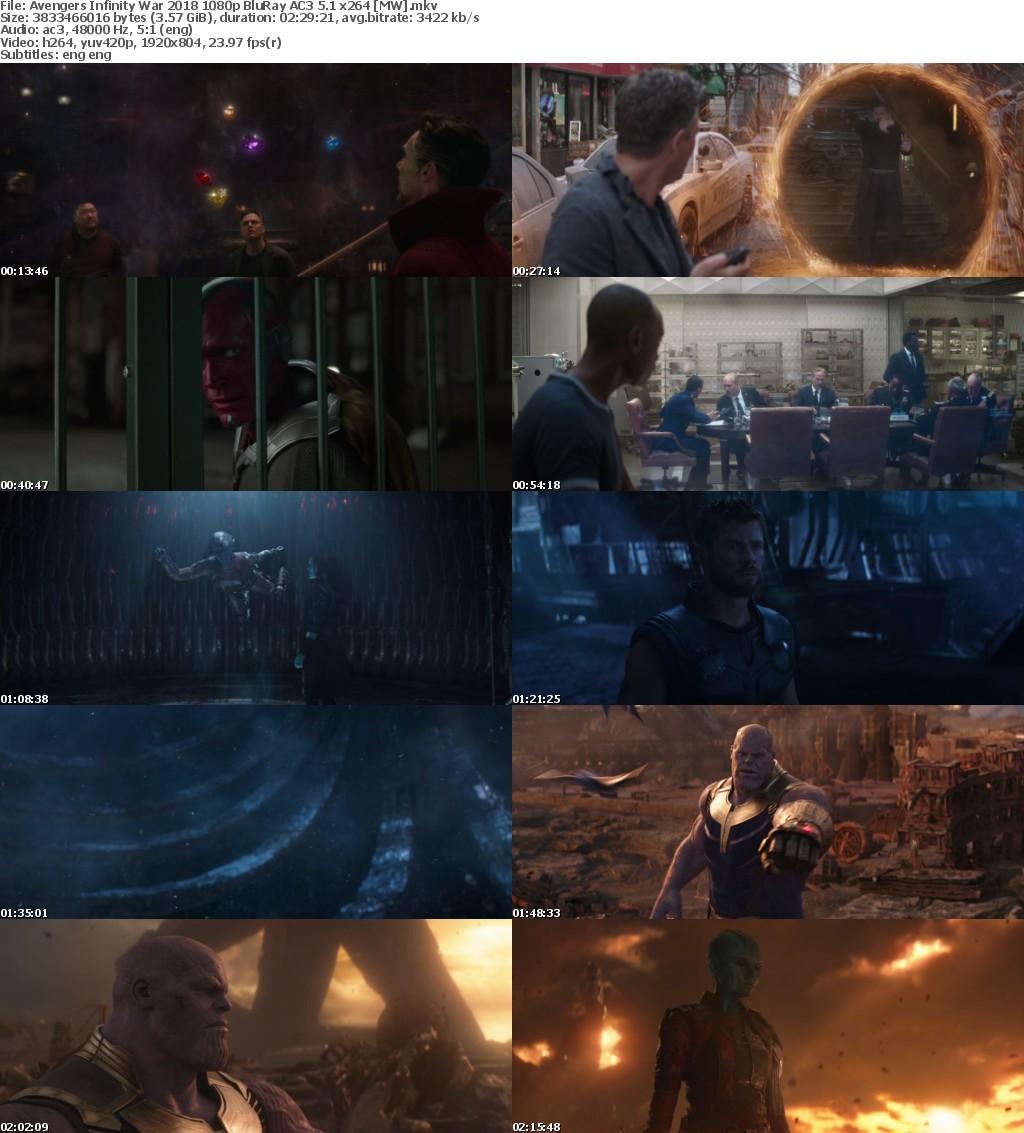 Avengers Infinity War (2018) 1080p BluRay AC3 5.1 x264 MW