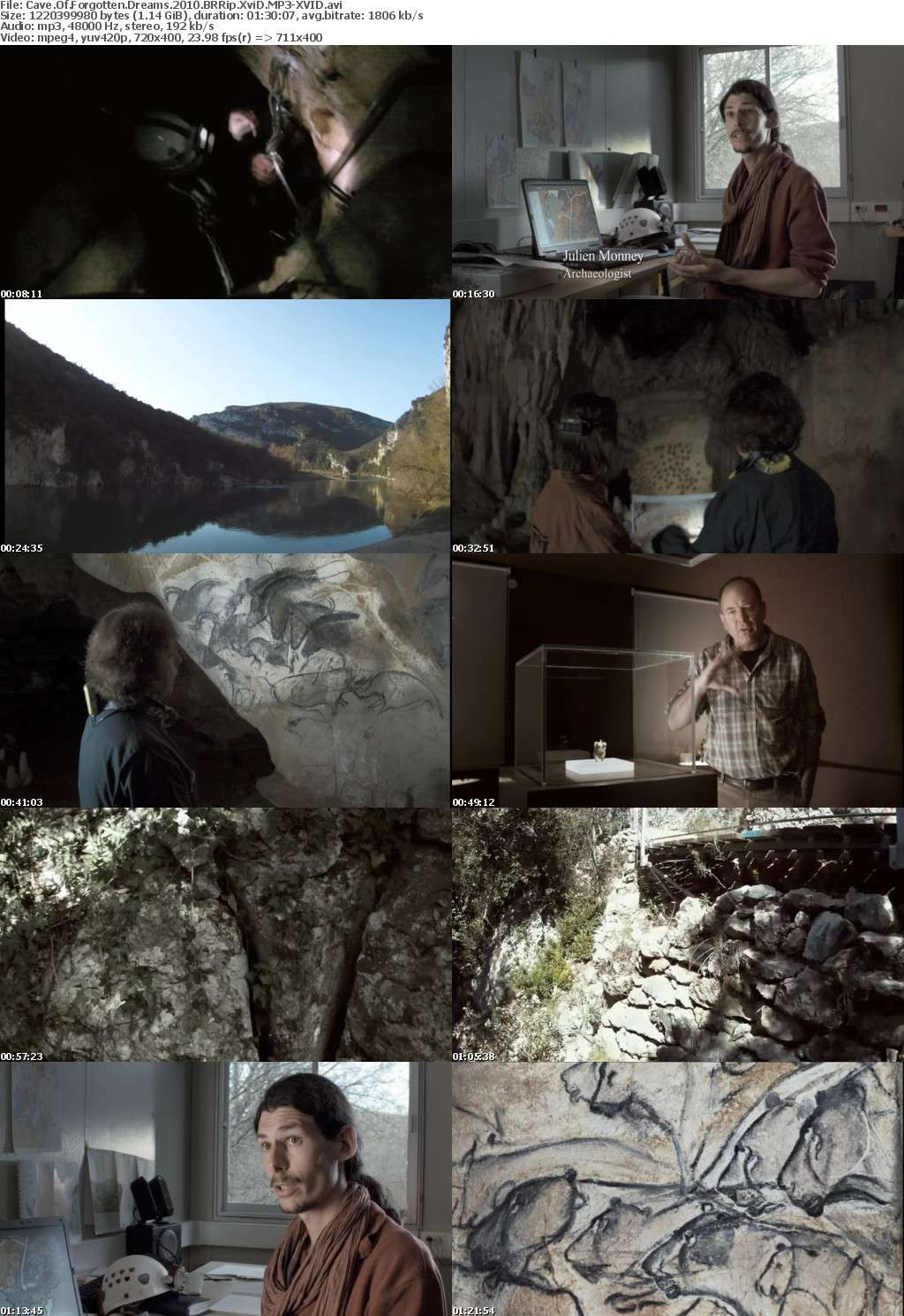 Cave Of Forgotten Dreams 2010 BRRip XviD MP3-XVID