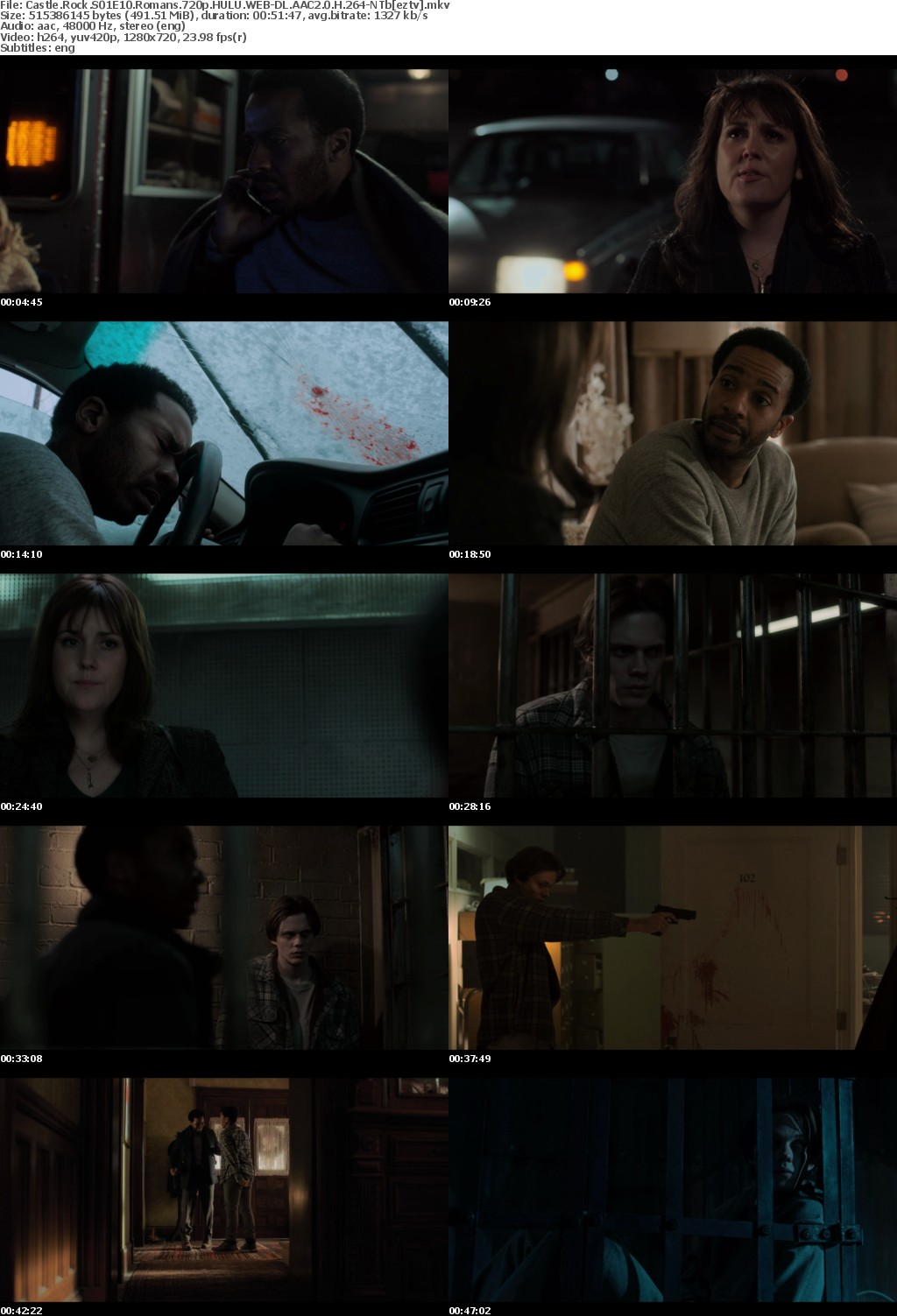 Castle Rock S01E10 Romans 720p HULU WEB-DL AAC2.0 H264-NTb