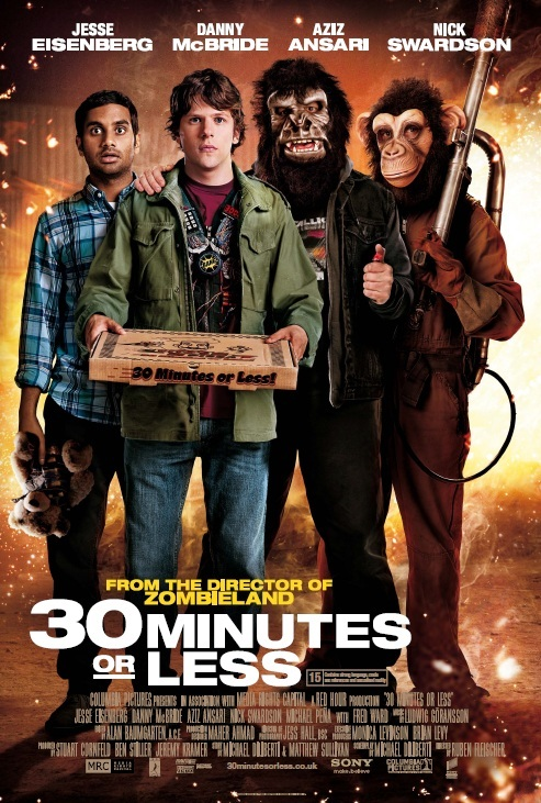30 Minutes or Less 2011 720p BluRay x264 Dual Audio Hindi 2 0 - English 2 0 ESub MW