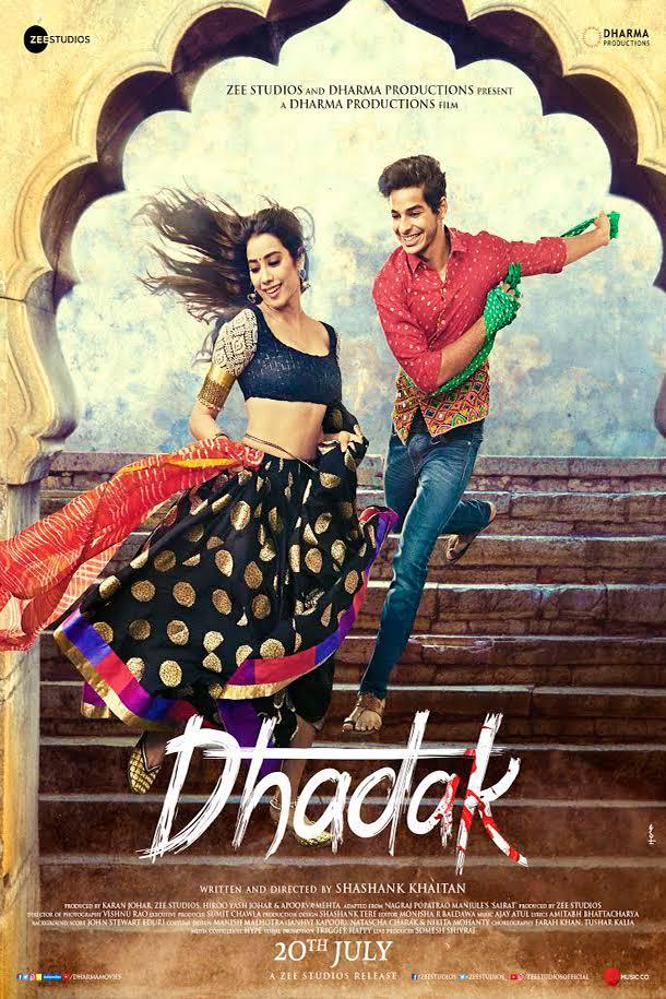 Dhadak 2018 Hindi 720p WEBRip-H264-AC3 5 1-Zi$t