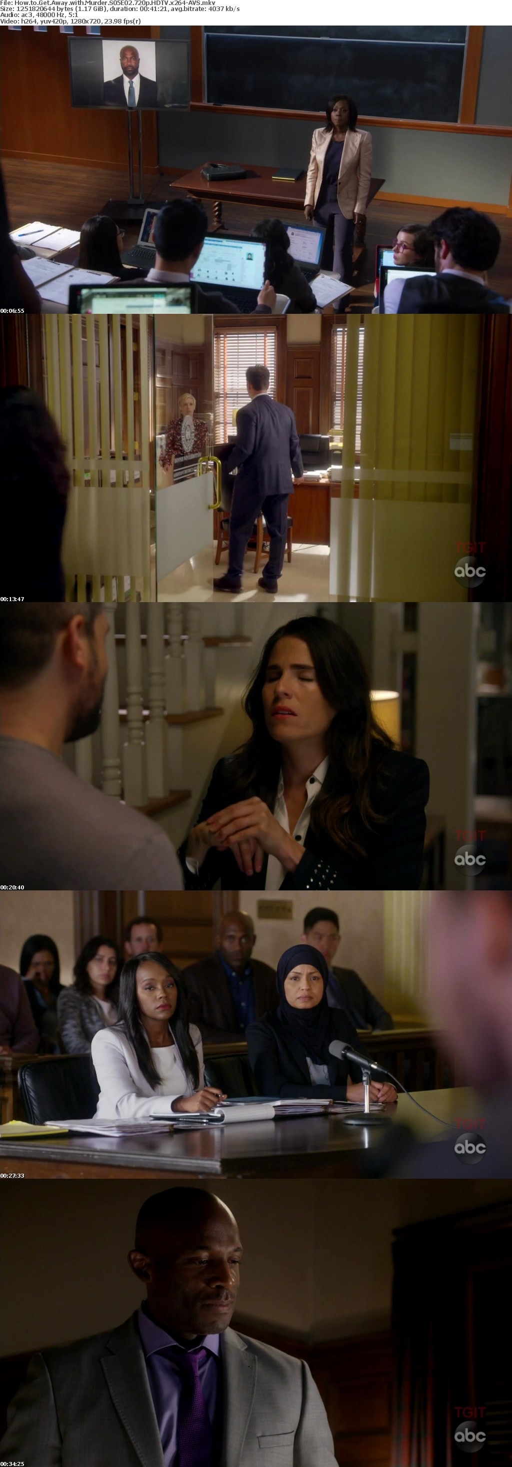 How to Get Away with Murder S05E02 720p HDTV x264-AVS