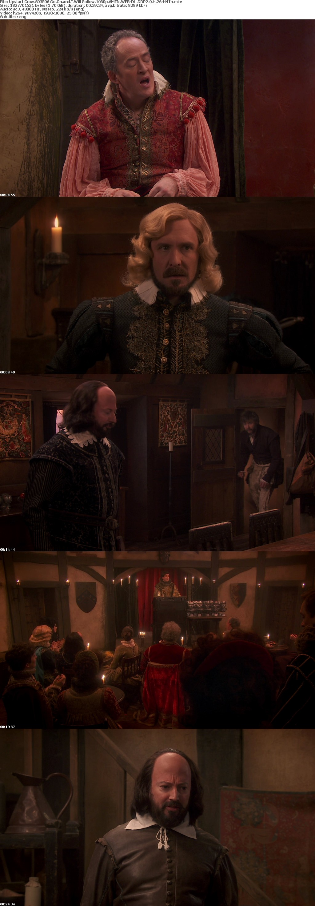 Upstart Crow S03E06 Go On and I Will Follow 1080p AMZN WEB-DL DDP2 0 H 264-NTb