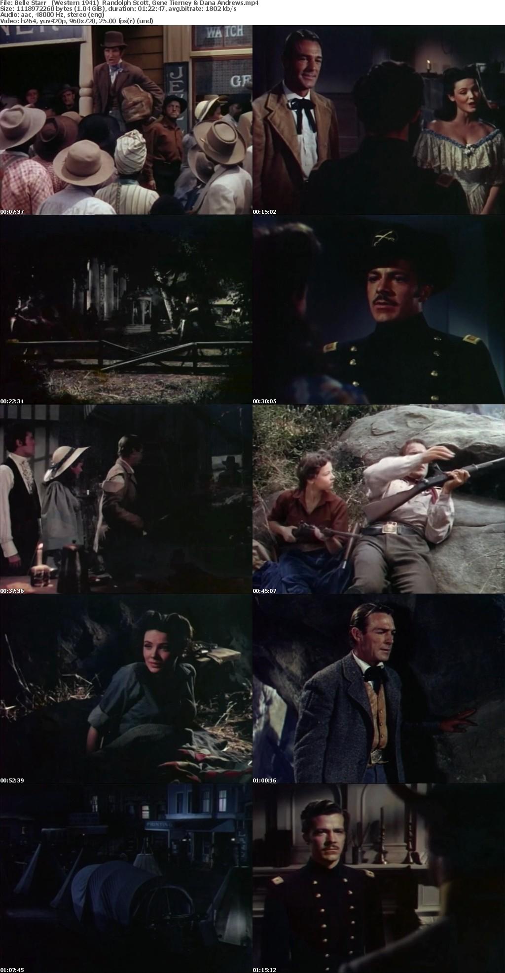 Belle Starr (Western 1941) Randolph Scott 720p