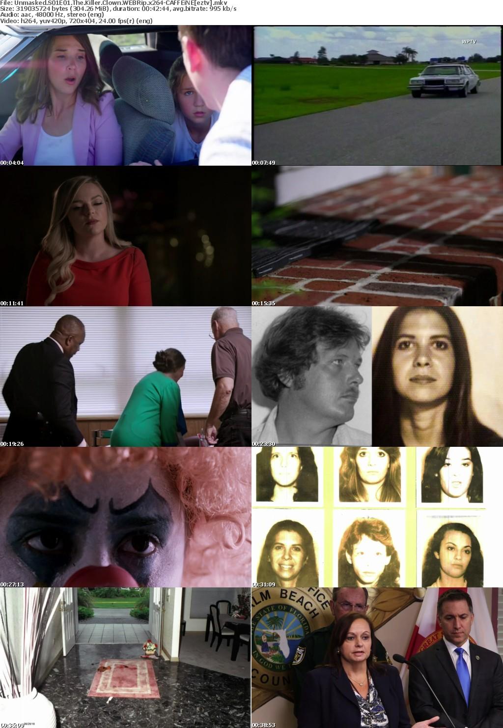 Unmasked S01E01 The Killer Clown WEBRip x264-CAFFEiNE