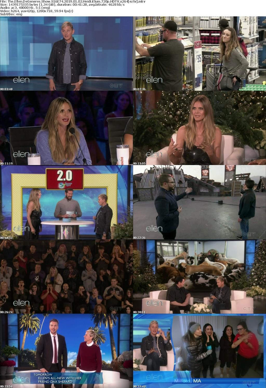 The Ellen DeGeneres Show S16E74 (2019) 01 02 Heidi Klum 720p HDTV x264