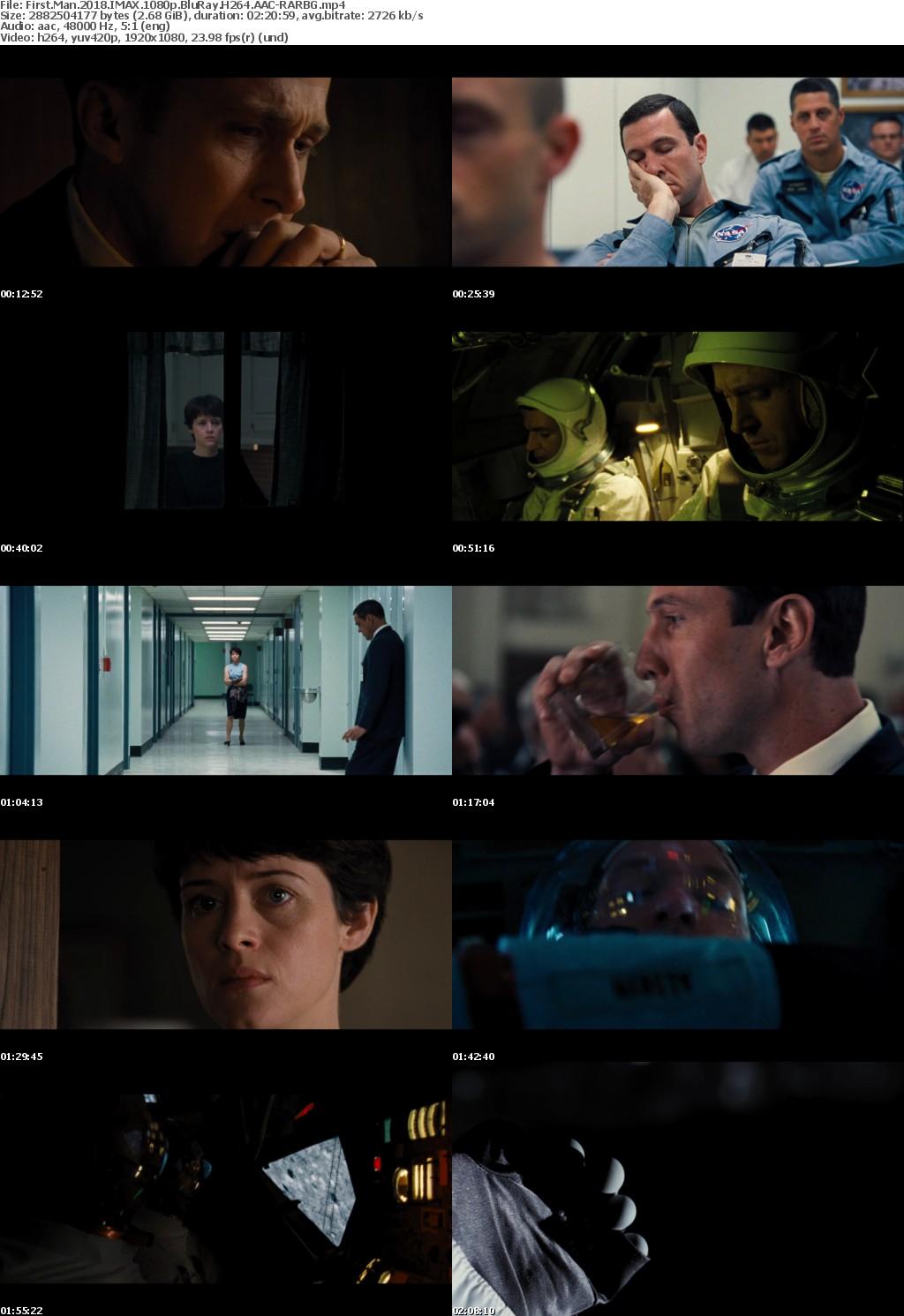 First Man (2018) IMAX 1080p BluRay H264 AAC-RARBG