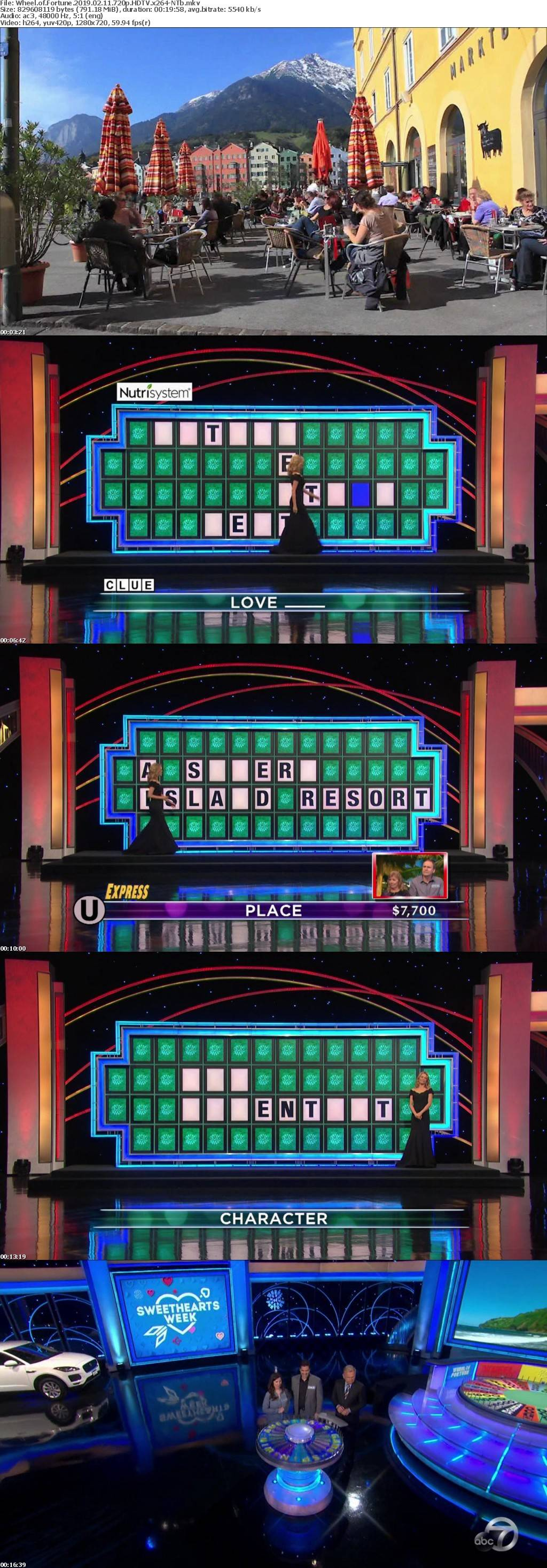 Wheel of Fortune 2019 02 11 720p HDTV x264-NTb