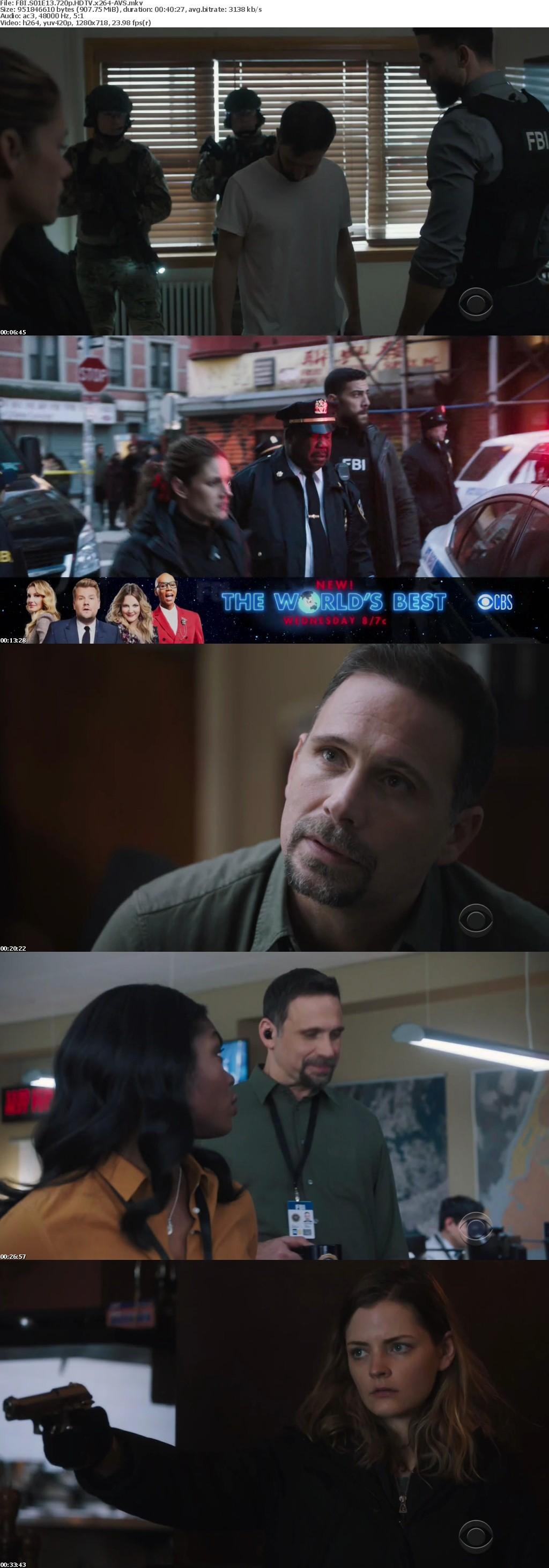 FBI S01E13 720p HDTV x264-AVS