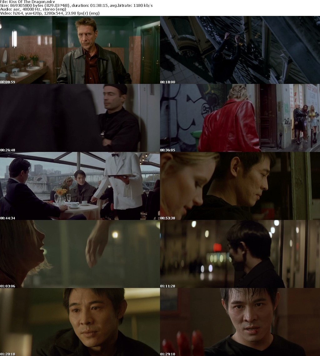 Kiss Of The Dragon (2001) 720p BRRip x264-Obey