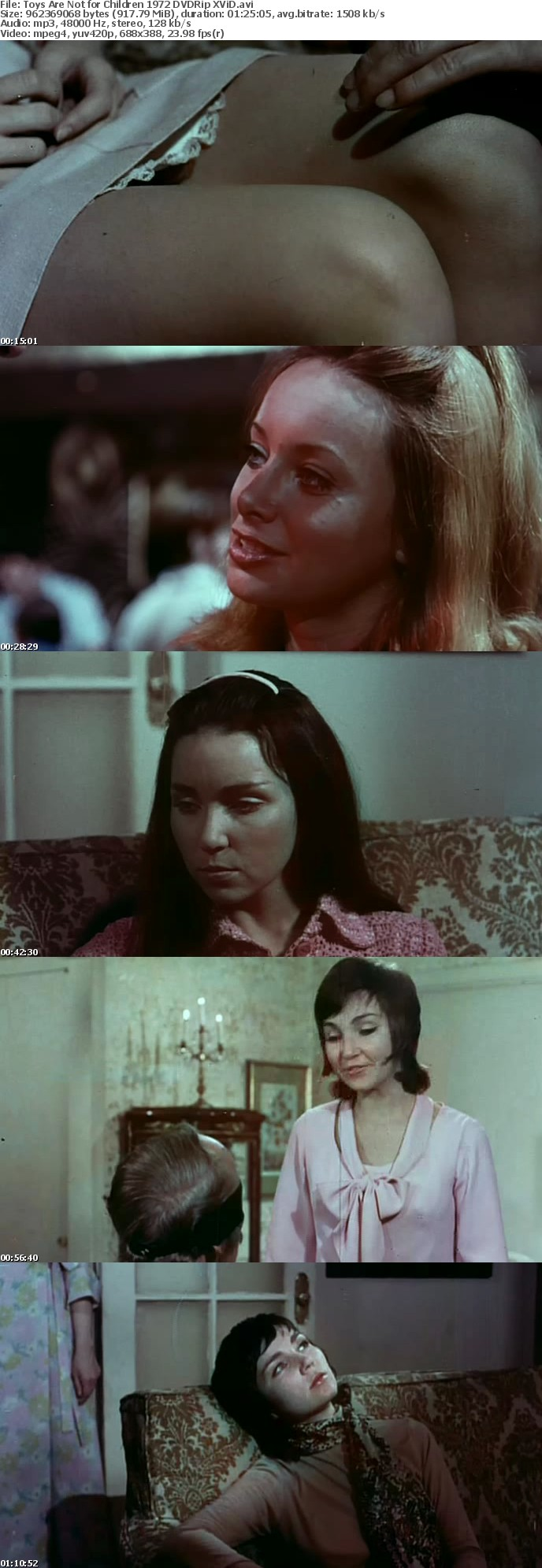 Toys Are Not for Children 1972 DVDRip XViD