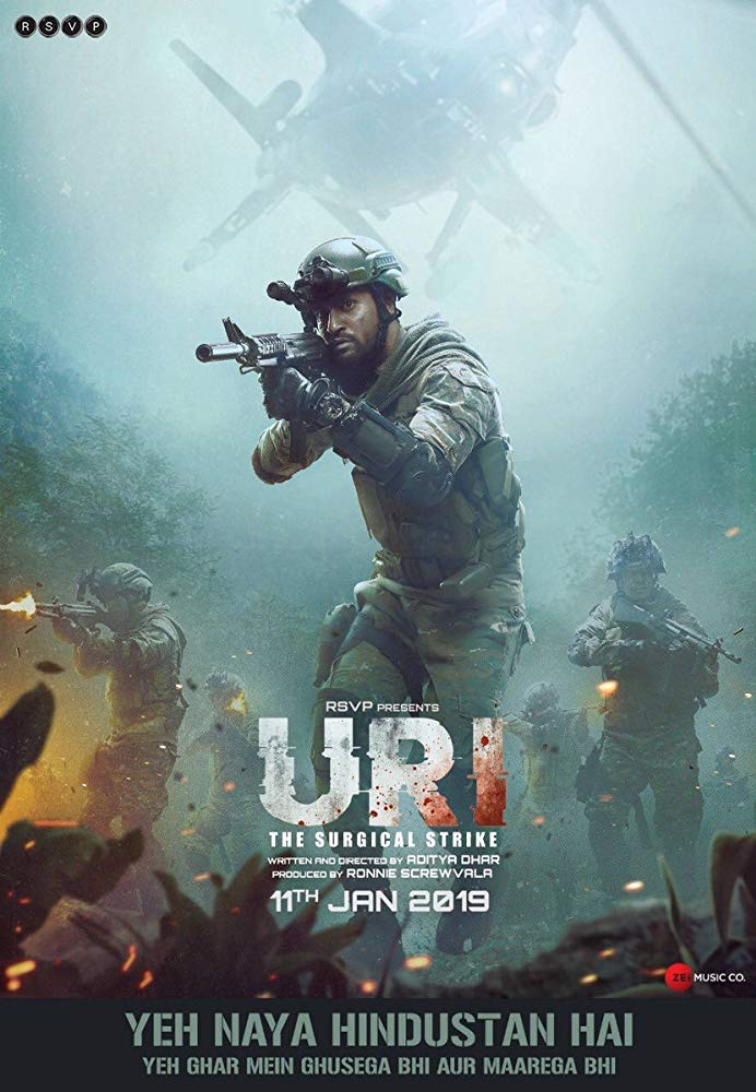 Uri The Surgical Strike 2019 720p WEB-Rip x264 AC3 - ESUB ~ Ranvijay