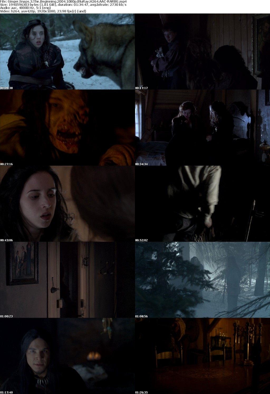 Ginger Snaps 3 The Beginning (2004) 1080p BluRay H264 AAC-RARBG