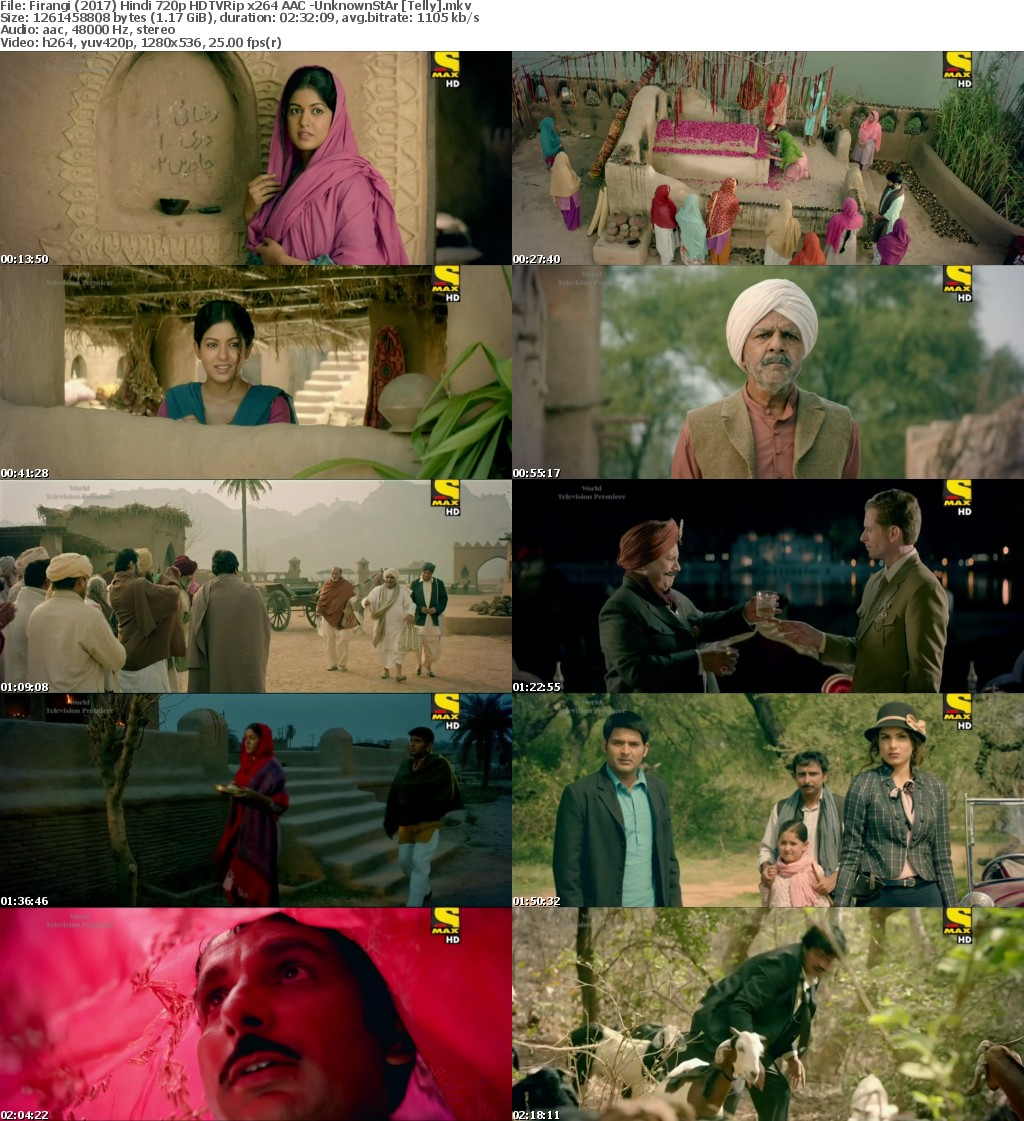 Firangi (2017) Hindi 720p HDTVRip x264 AAC -UnknownStAr Telly