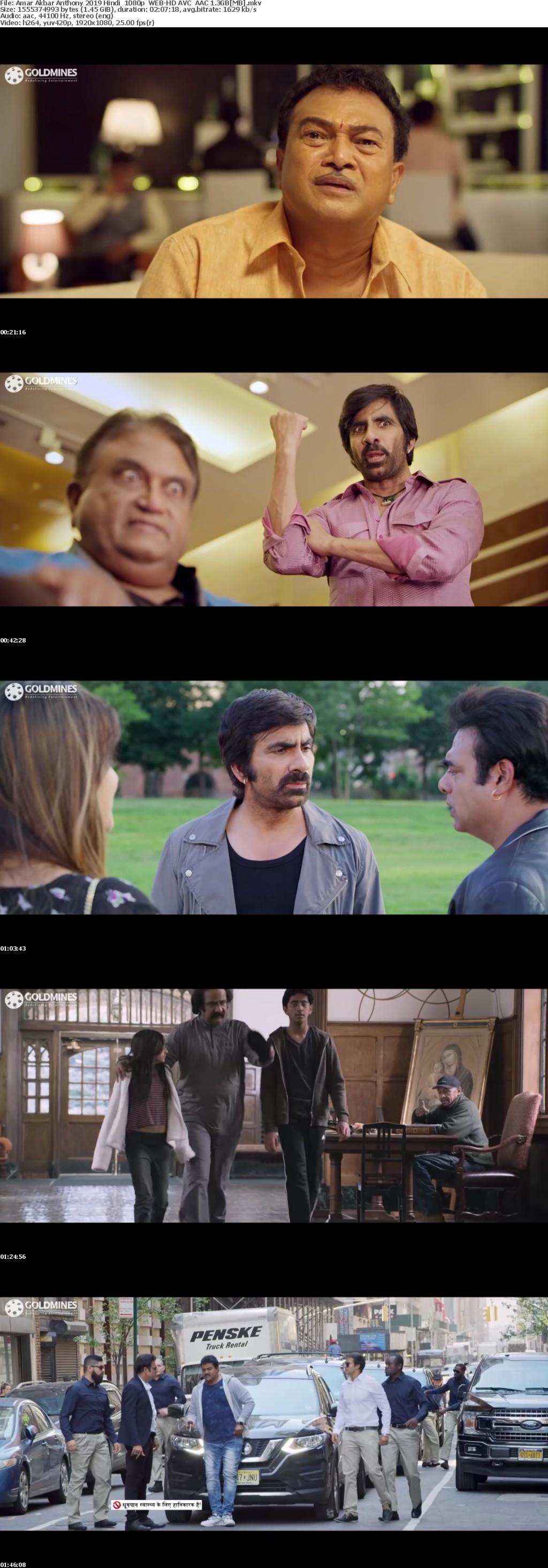 Amar Akbar Anthony 2019 Hindi 1080p WEB-HD AVC AAC 1 3GB[MB]