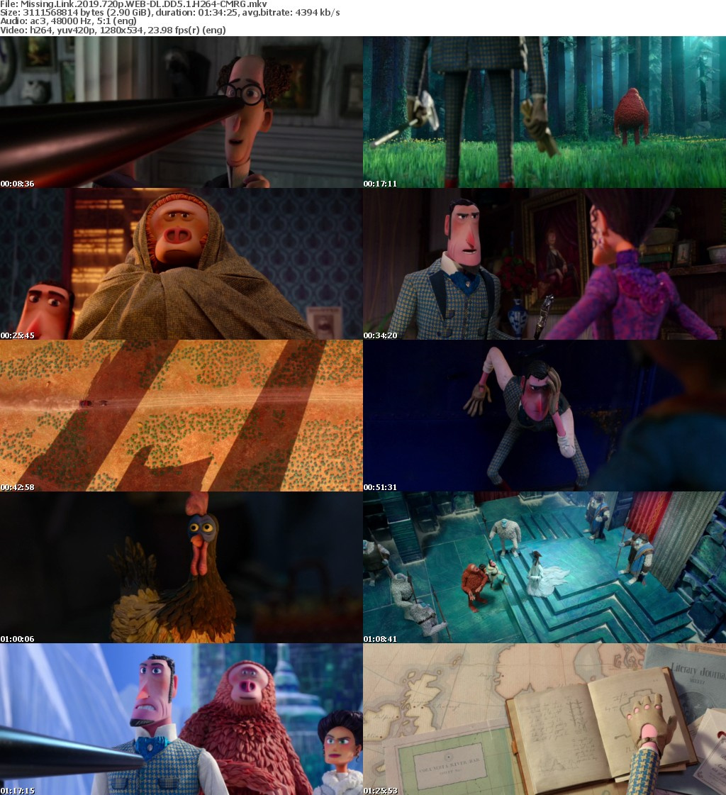 Missing Link (2019) 720p WEB DL DD5.1 H264 CMRG