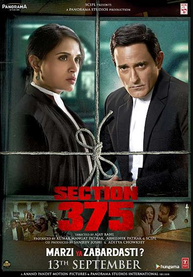 Section 375 (2019) Hindi PreCAM Rip 1CD x264 AAC 700MB NO LOGO  CV