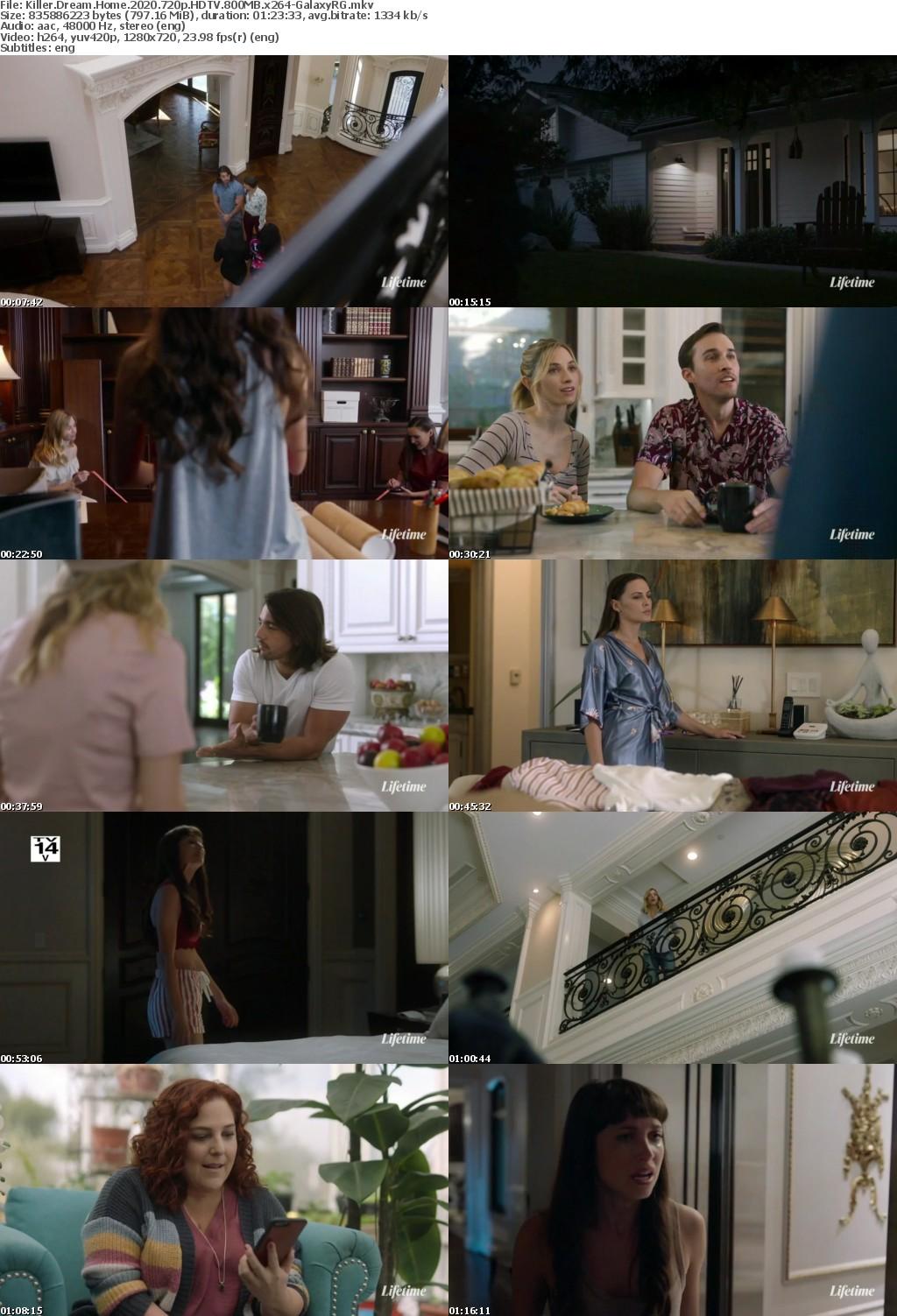 Killer Dream Home (2020) 720p HDTV 800MB x264-GalaxyRG