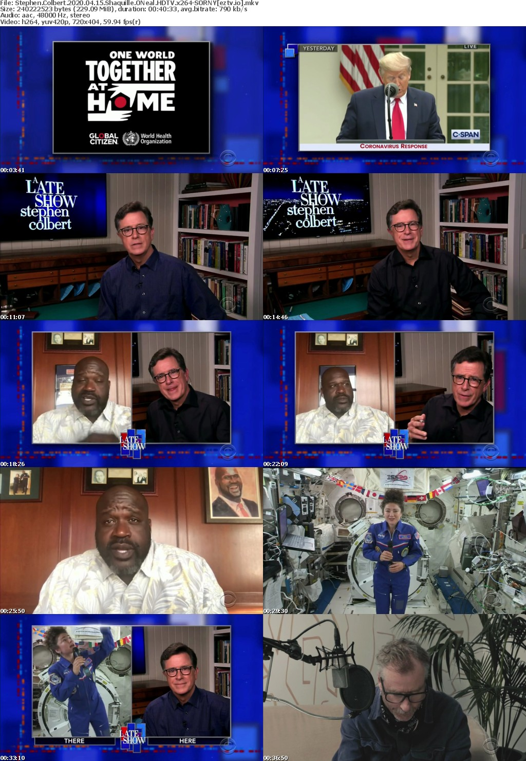 Stephen Colbert 2020 04 15 Shaquille ONeal HDTV x264-SORNY