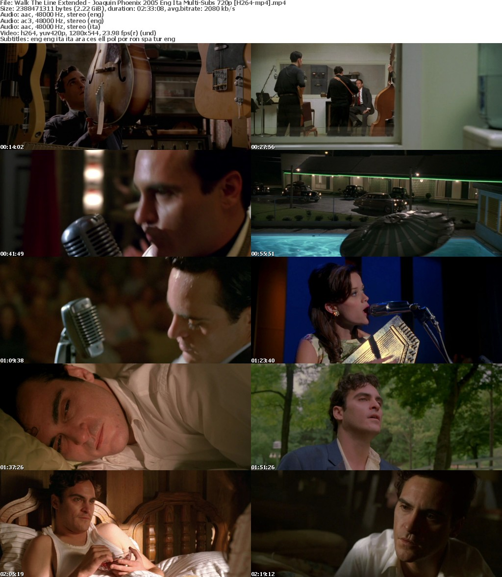 Walk The Line Extended - Joaquin Phoenix 2005 Eng Ita Multi-Subs 720p H264-mp4