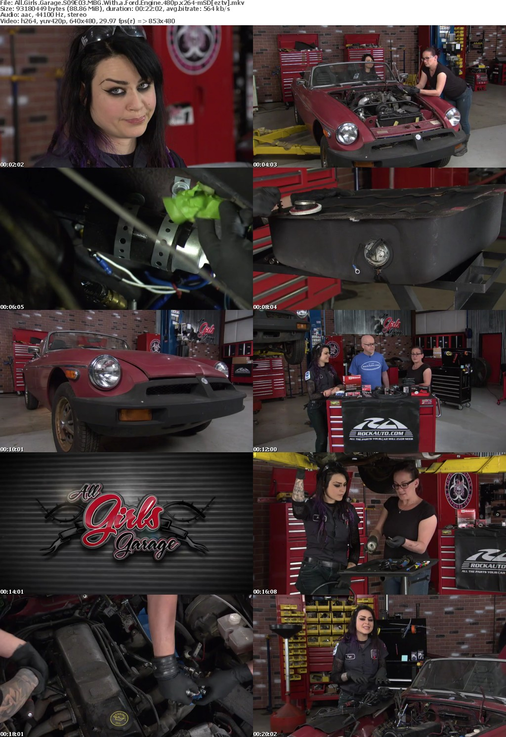All Girls Garage S09E03 MBG With a Ford Engine 480p x264-mSD