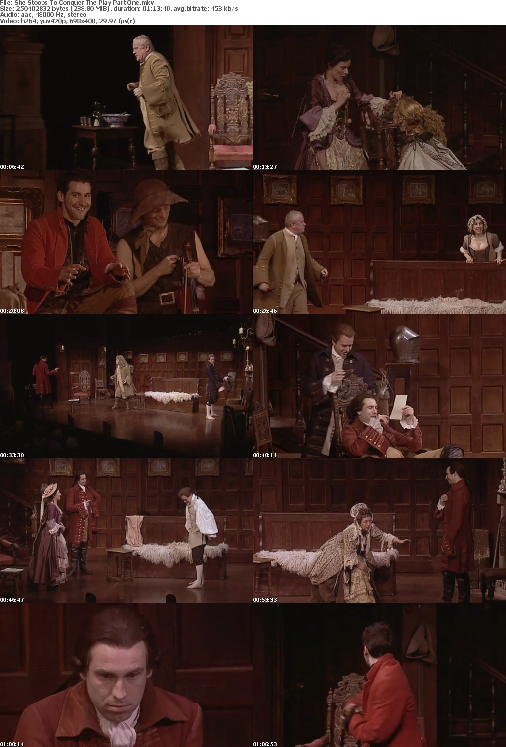 She Stoops To Conquer by Oliver Goldsmith Live from Heritage Theatre 2009