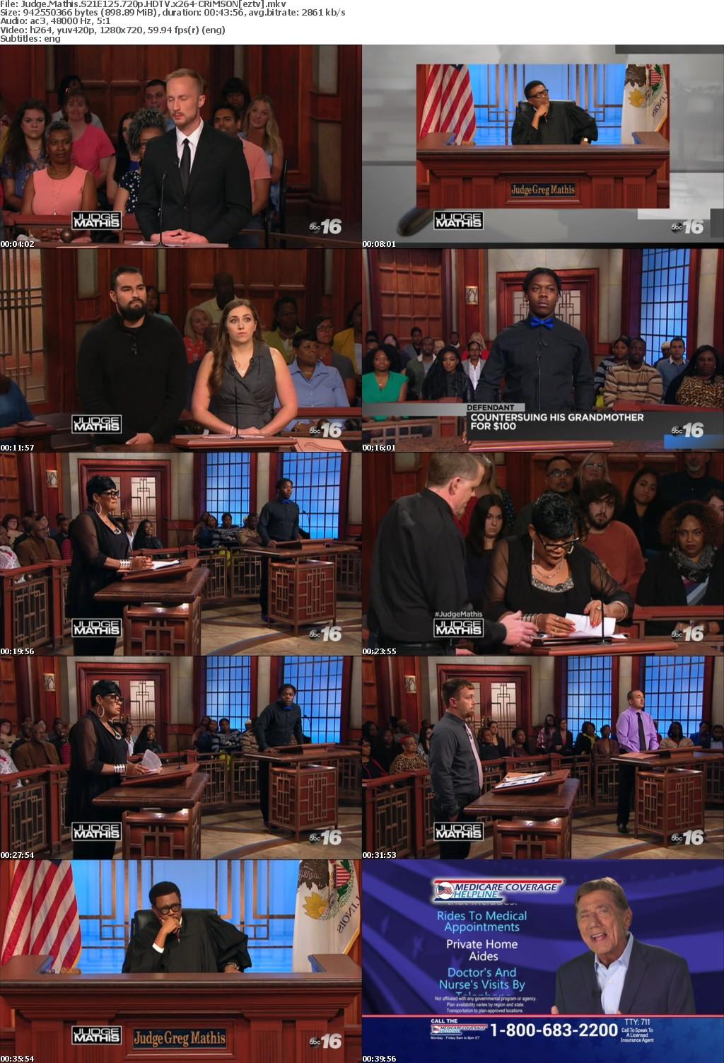 Judge Mathis S21E125 720p HDTV x264-CRiMSON