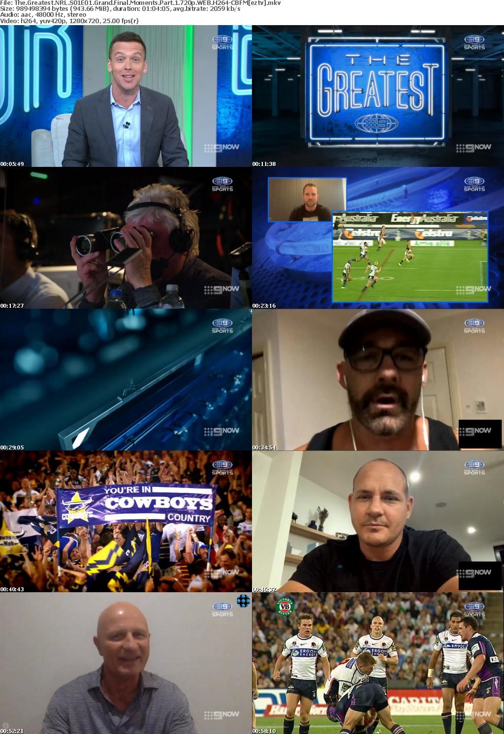 The Greatest NRL S01E01 Grand Final Moments Part 1 720p WEB H264-CBFM
