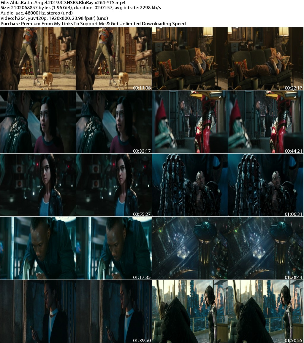 Alita Battle Angel (2019) 3D HSBS 1080p BluRay x264-YTS