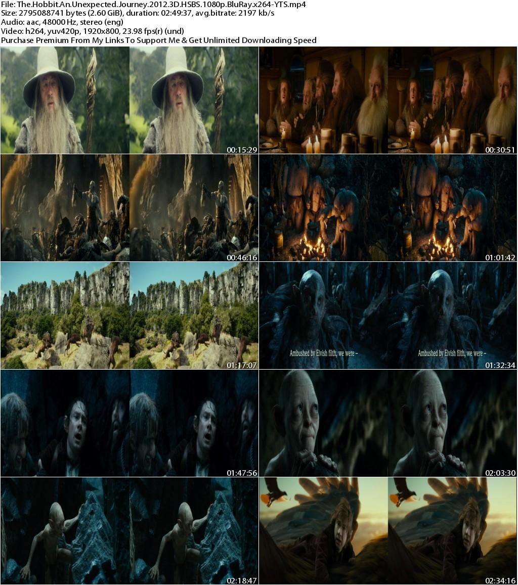 The Hobbit An Unexpected Journey (2012) 3D HSBS 1080p BluRay x264-YTS