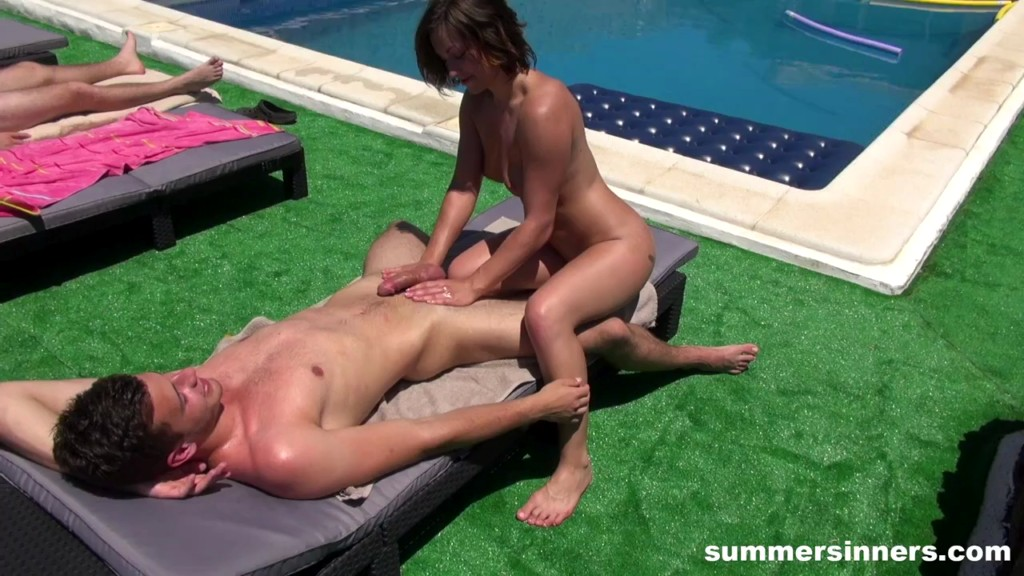 SummerSinners 20 01 31 Rubbing Sunblock All Over His Dick XXX 720p WEB x264-GalaXXXy