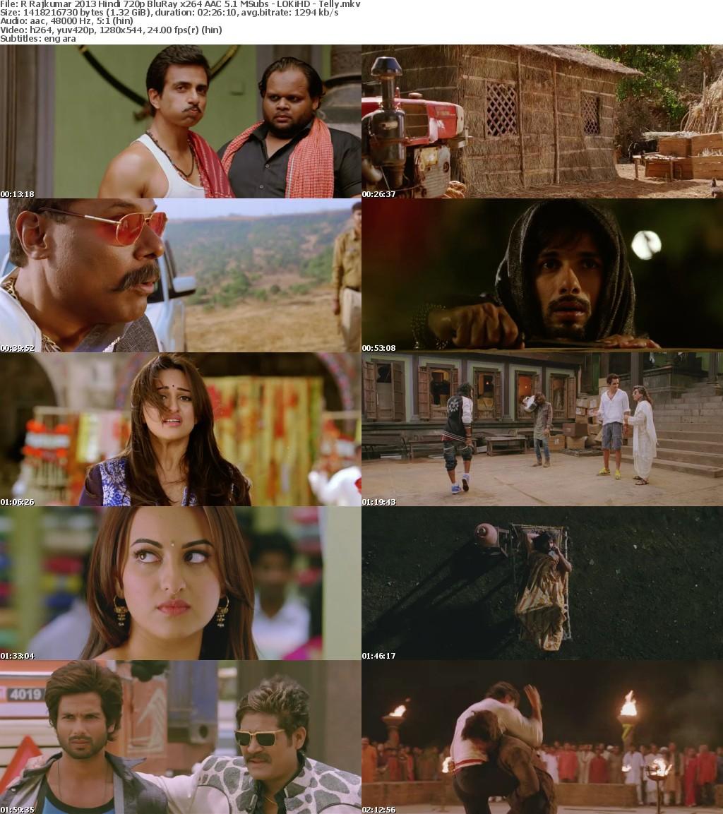R Rajkumar 2013 Hindi 720p BluRay x264 AAC 5 1 MSubs - LOKiHD - Telly