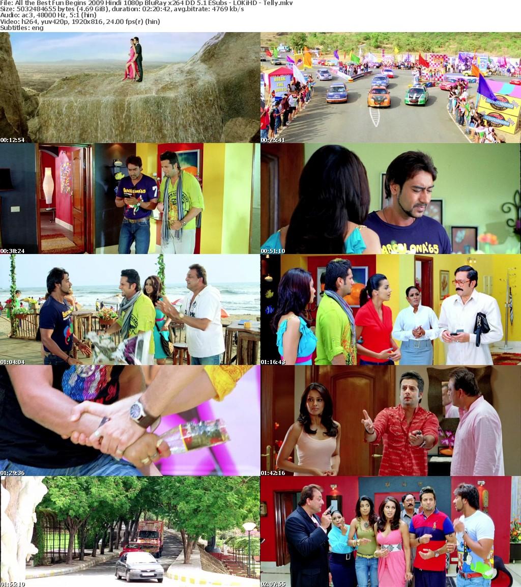 All the Best Fun Begins 2009 Hindi 1080p BluRay x264 DD 5 1 ESubs - LOKiHD - Telly