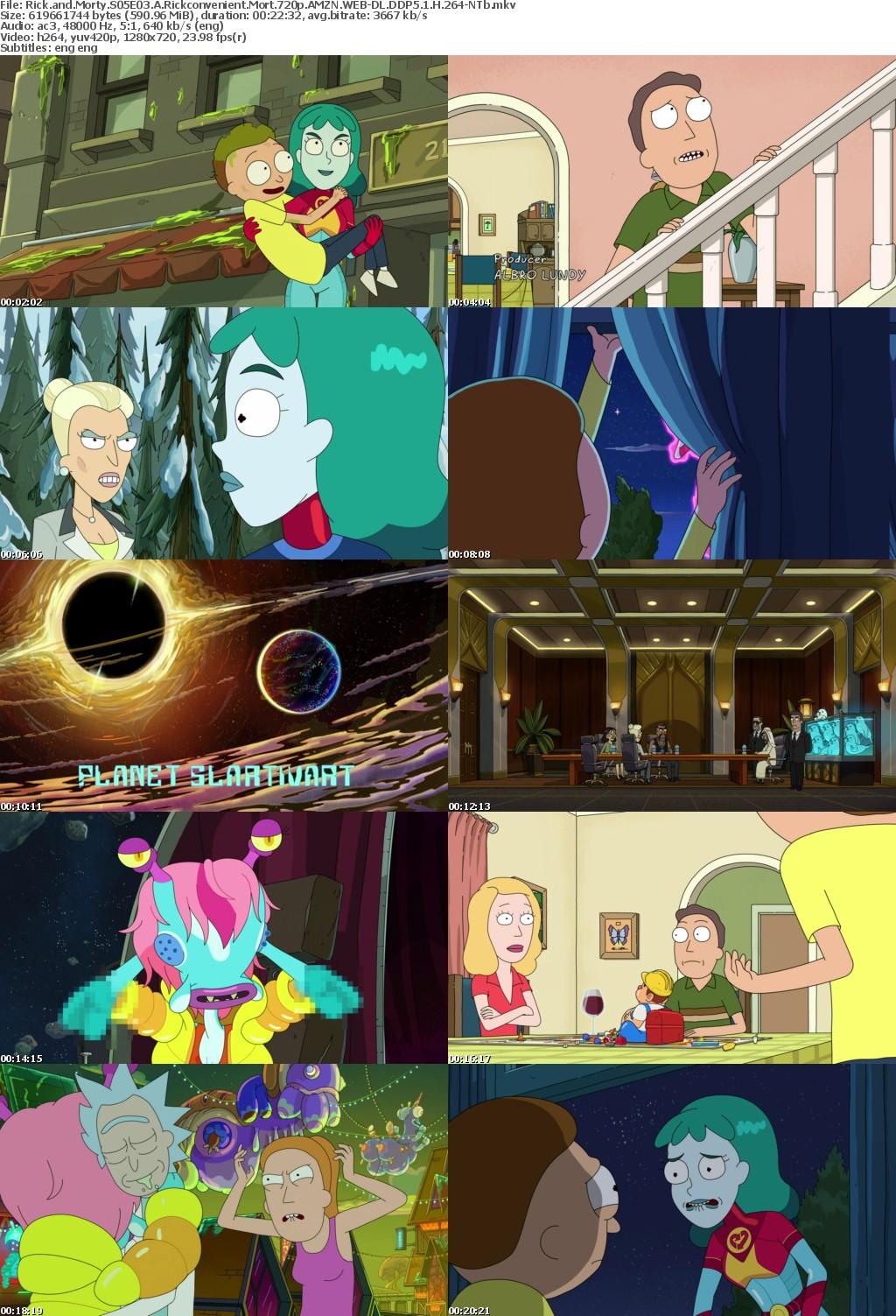 Rick and Morty S05E03 A Rickconvenient Mort 720p AMZN WEBRip DDP5 1 x264-NTb
