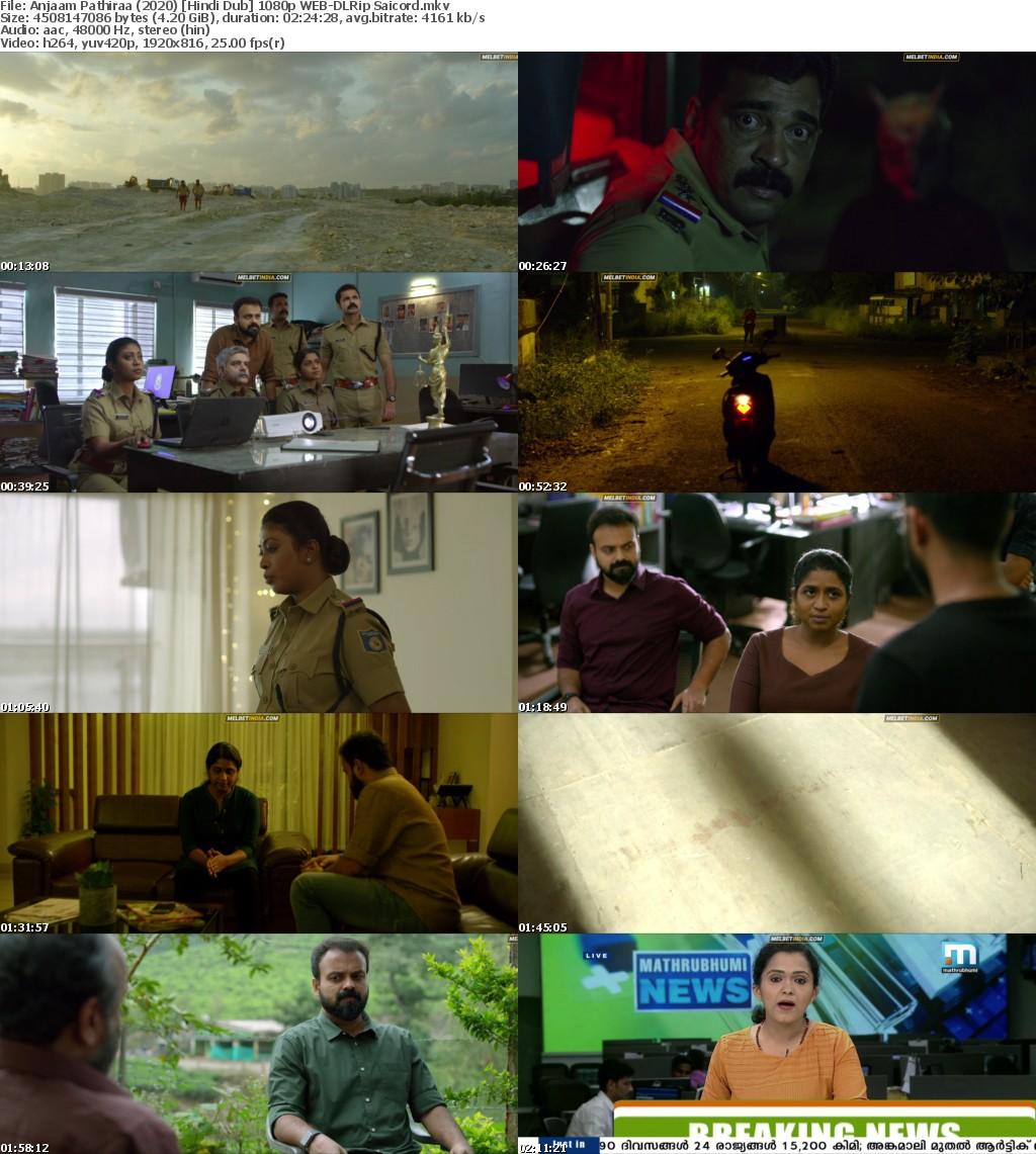 Anjaam Pathiraa (2020) Hindi Dub 1080p WEB-DLRip Saicord