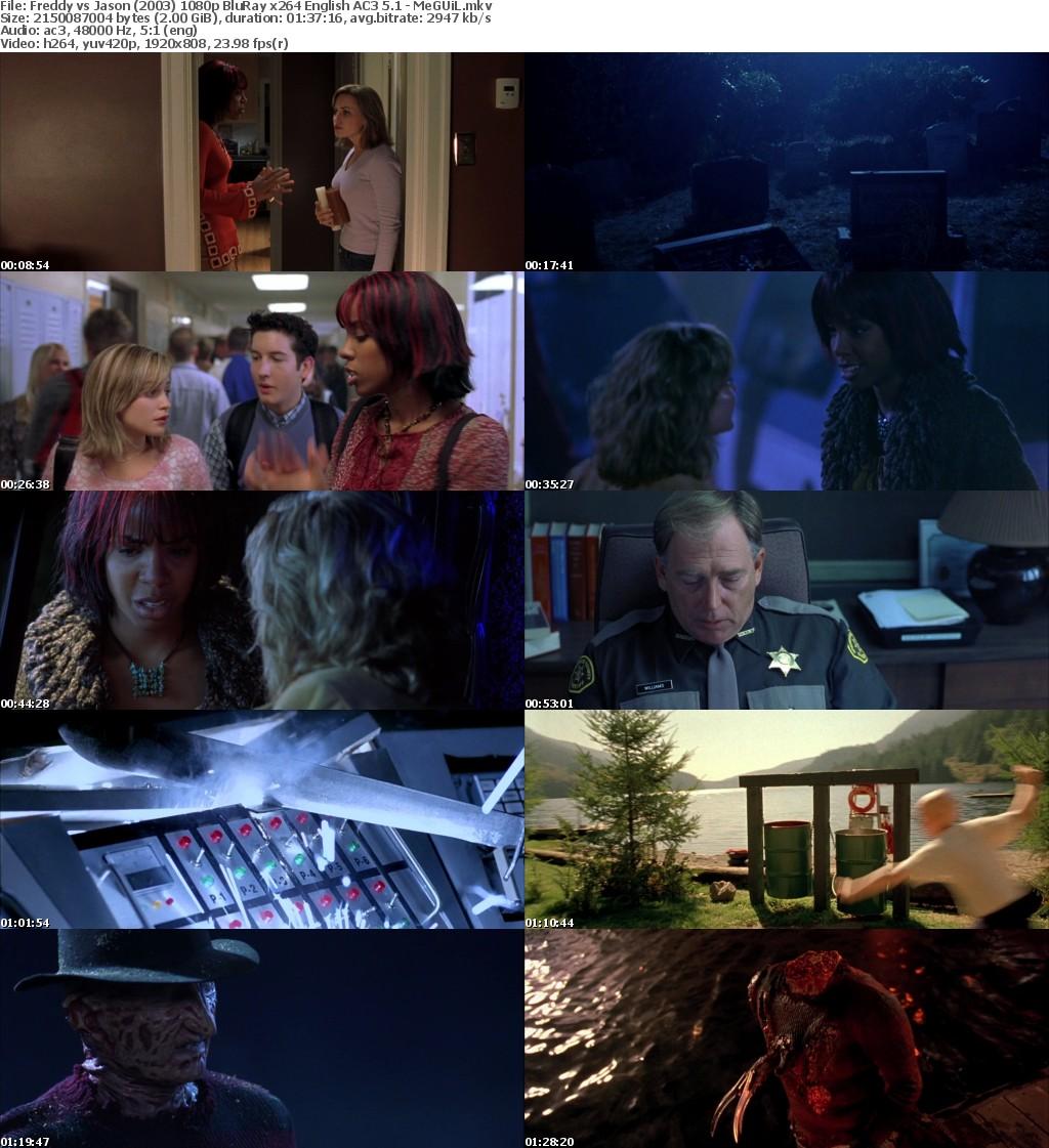Freddy vs Jason (2003) 1080p BluRay x264 English AC3 5 1 - MeGUiL