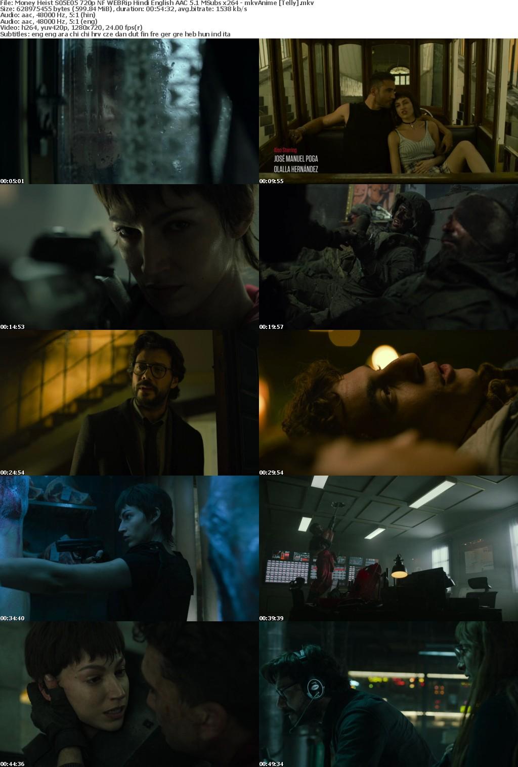 Money Heist S05 720p NF WEBRip Hindi English AAC 5 1 MSubs x264 - mkvAnime Telly